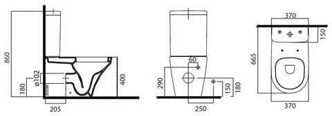 Унитаз-компакт AM-PM Inspire C508607WH + крышка
