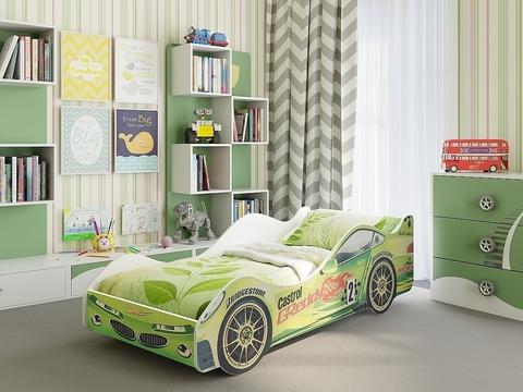 Кровать-машина Вираж Браво Мебель лдсп зеленый