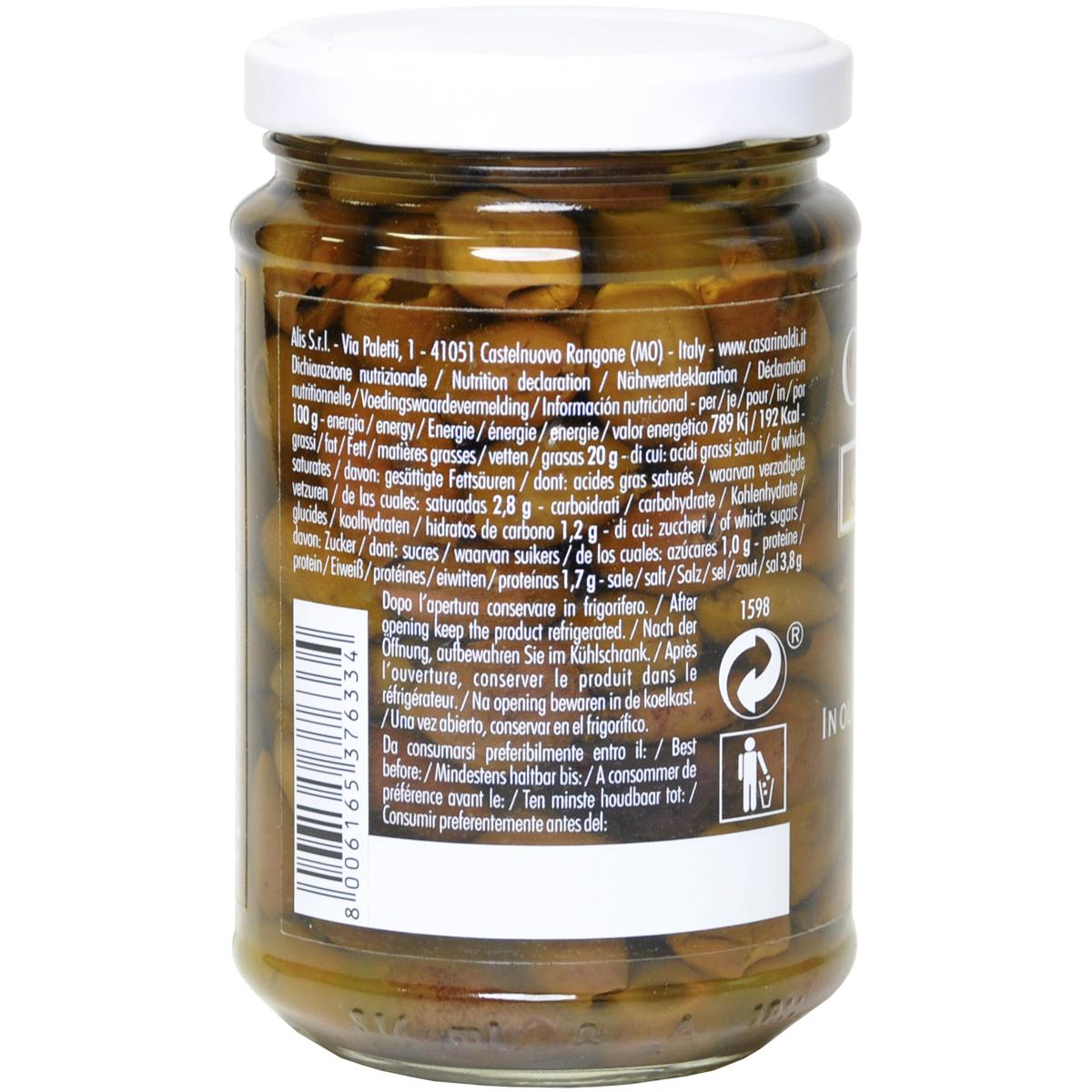 Оливки Casa Rinaldi Ривьера Таджаске консервированные без косточки 290г