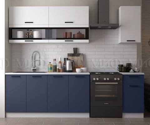 Кухня Техно NEW 2.0 м белый-ультрамарин