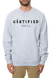 Свитшот Dope Certified серый фото