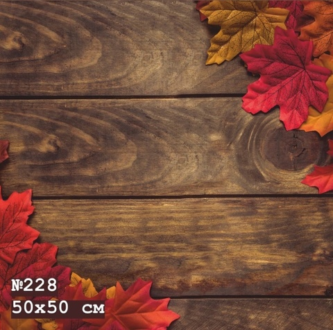 Фотофон виниловый «Кленовый лист» №228