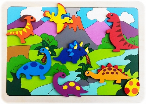 Мозаика-вкладыш Динозаврики, Крона, арт. 143-079