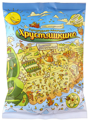 Кукурузные палочки Ванильный бережок, 90 гр. (ТНП)