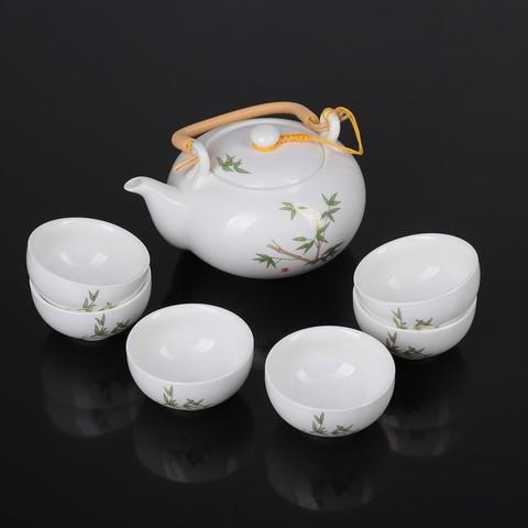 Набор для чайной церемонии Бамбук, 7 предметов: чайник 700 мл, чашка 80 мл