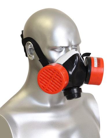 Полумаска Бриз-3201 (РУ) газопылезащитная с фильтром А1Р1D R D (х40)