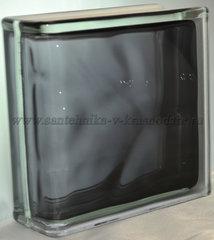 Торцевой стеклоблок черный окрашенный изнутри Vitrablok   19x19x8