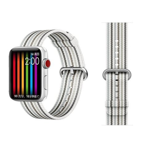 Ремешок COTEetCI W30 Nylon Rainbow Band (WH5251-WG-42) для Apple Watch 44мм/ 42мм Бело-Графитовый