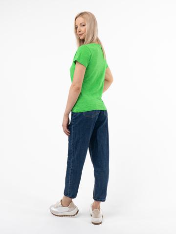 Женская футболка «Великоросс» травяного цвета