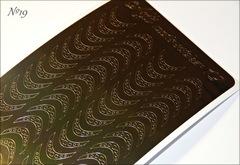 Металлизированные наклейки Arti nails Stiker цвет золото №19