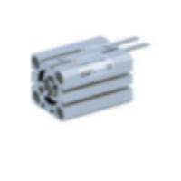 CQSB12-10S  Компактный цилиндр, М5х0.8, одностор. д ...
