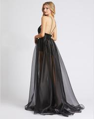 Sheron 1584 Платье в пол, лиф украшен пайетками, прозрачная юбка и шортики