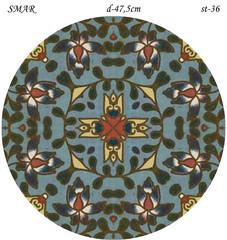 Эскиз для росписи, Круг диаметр-47,5см, SMAR-st-36