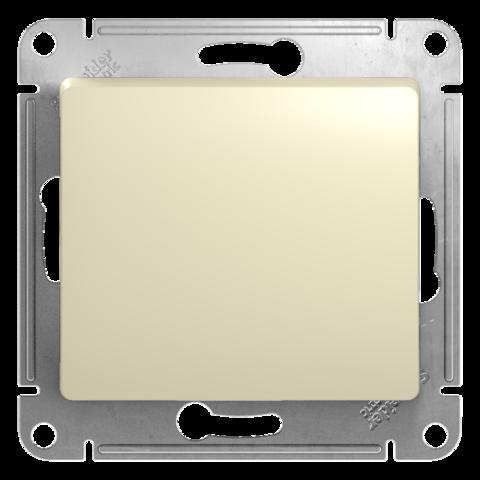 Выключатель одноклавишный, 10АХ. Цвет Бежевый. Schneider Electric Glossa. GSL000211