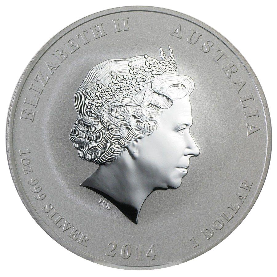 1 доллар. Год Лошади. Австралия. 2014 год