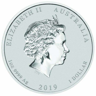 1 доллар. Год свиньи. Австралия. 2019 г.