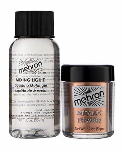 MEHRON Металлическая пудра-порошок Metallic Powder (5 г) с жидкостью для смешивания Mixing Liquid (30 г), Copper  (Медь)