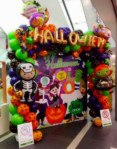 Фотозона Halloween с баннером