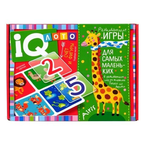 Пластиковое лото для малышей Счет и фигуры, подбери число Айрис Пресс 27391