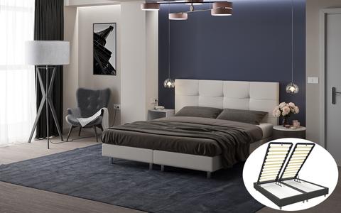 Кровать Proson Bern Boxspring Lift с подъемным механизмом и ящиком