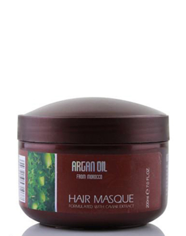 Питательная, увлажняющая маска для волос с маслом арганы и экстрактом икры, Argan Oil from Morocco, 200мл