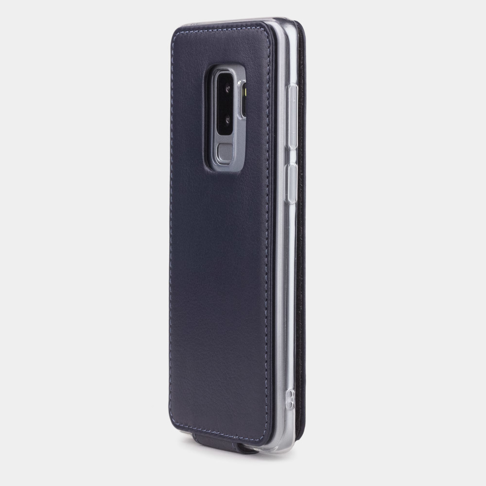 Чехол для Samsung Galaxy S9 Plus из натуральной кожи теленка, цвета индиго
