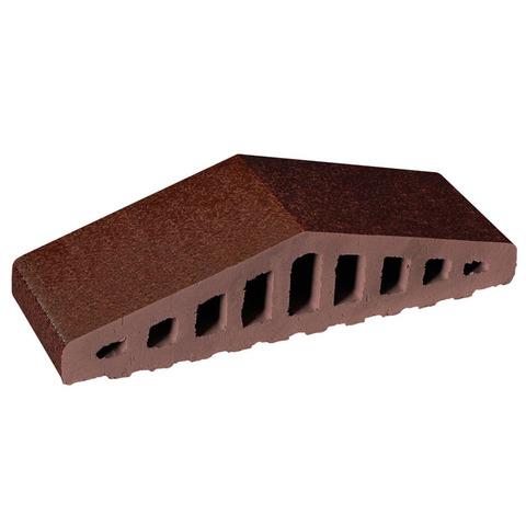 Клинкерный заборный элемент King Klinker, Коричневый глазурованный (02) Brown glazed, 310/250x100x78