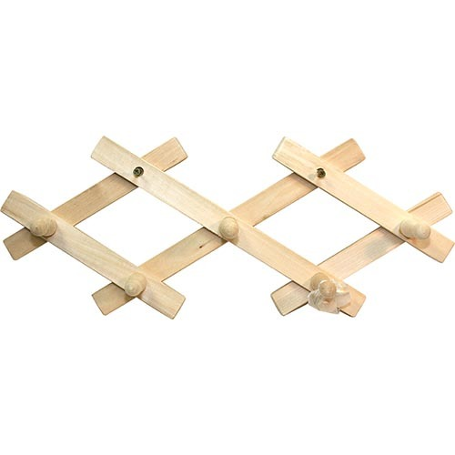 Вешалка-гармошка с 5 крючками, липа