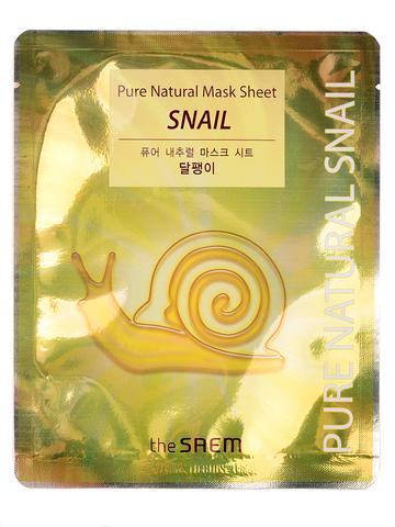 СМ Pure Natural Маска тканевая с муцином улитки (Not For Sale) Pure Natural  Mask Sheet [Snail] 20мл