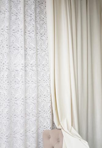 Бархатные шторы матовые молочные. 200 х 270 см. 77702