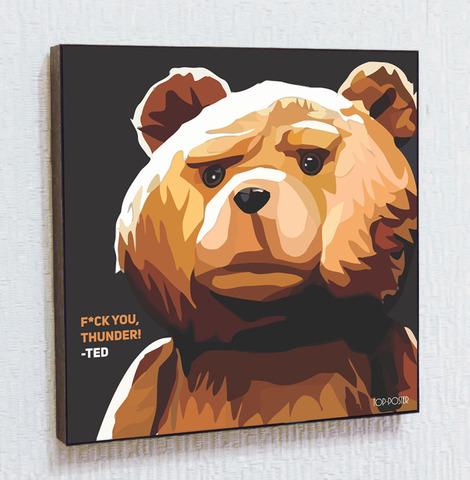 Картина постер Тед в стиле ПОП-АРТ