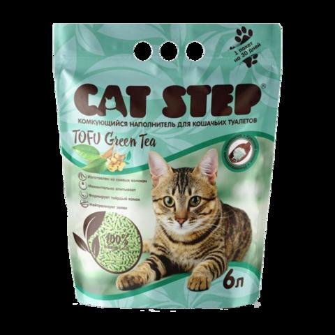 Cat Step Tofu Green Tea Наполнитель для туалета кошек растительный комкующийся