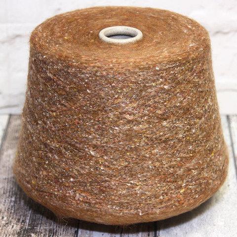 Смесовка с альпакой и шелком FABIFIL / DONEGAL 800 светло-коричневый твид