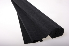Бумага гофрированная простая черная (602), 50 см./250 см.