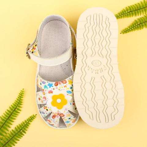 Сандалии, желто-белый цветок, Римал