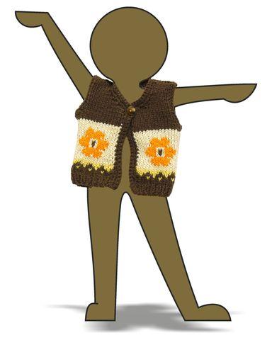 Вязаный жилет - Демонстрационный образец. Одежда для кукол, пупсов и мягких игрушек.