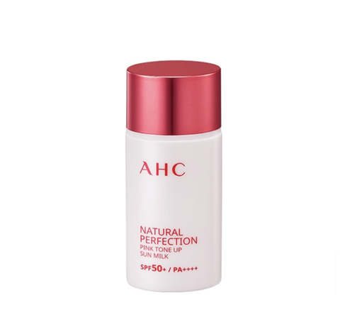 AHC Natural perfection pink tone up sun milk spf 50+ pa++++