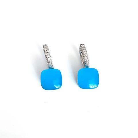 33381 - Серьги Caramel из серебра с голубым кварцем