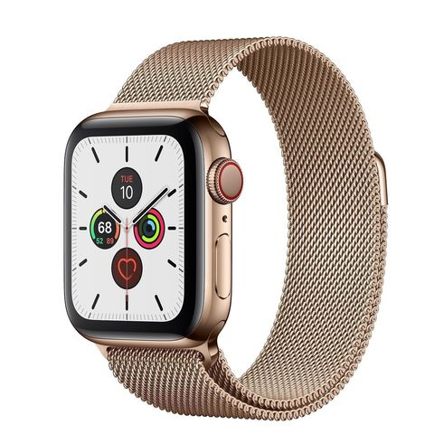 Часы Apple Watch Series 5 GPS + Cellular 40mm Stainless Steel Case with Milanese Loop Gold (Золотой)