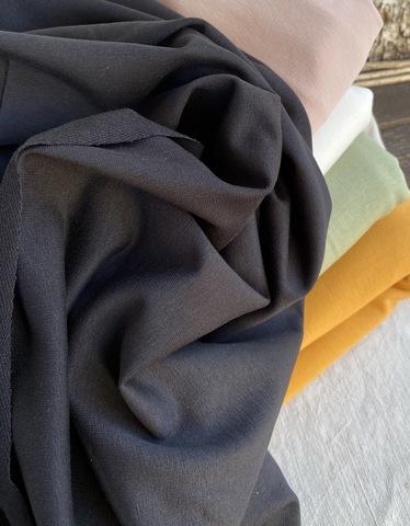 Футер 2-х ниточный, петля, черный