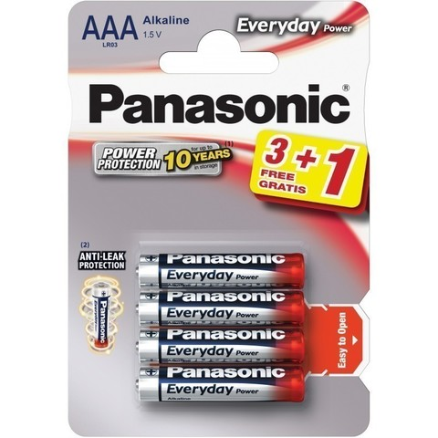 Батарейки Panasonic Everyday Power LR03, AAA (4/48) BL