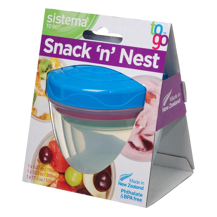 """Набор контейнеров Sistema """"TO GO Nest """" 3шт."""