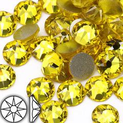 Купить клеевые страз холодной фиксации Citrine Xirius желтые
