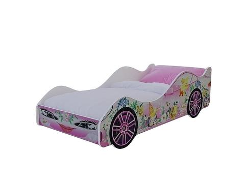 Кровать-машина Леди Браво Мебель лдсп розовый
