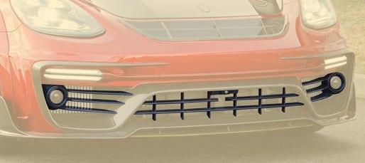 Карбоновая передняя решетка (без/с радаром) Mansory Style для Porsche Panamera