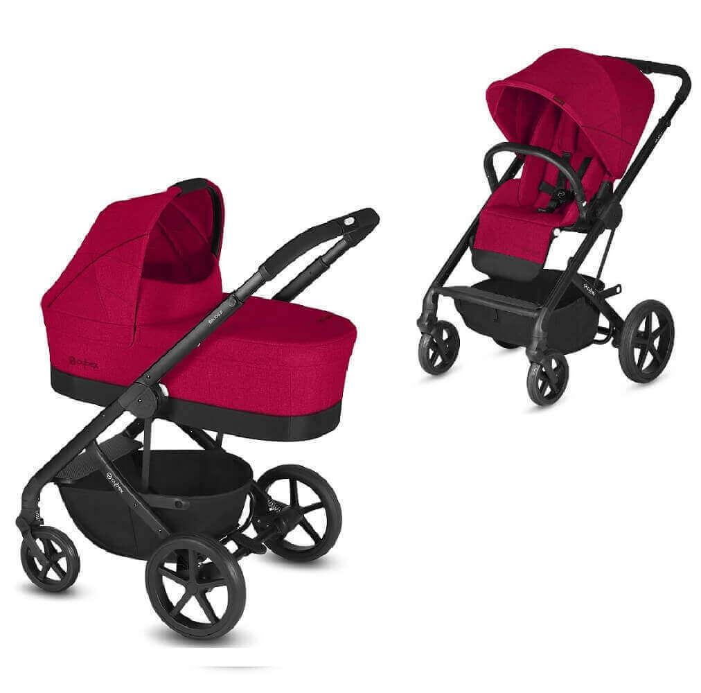 Cybex Balios S 2 в 1, для новорожденных Детская коляска Cybex Balios S 2 в 1 Rebel Red CYB_18__y045_EU_RERE_BaliosS_CotS_Topview_DERV_HQ.jpg