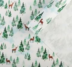 Бумага упаковочная крафтовая «Лесная сказка», 70 × 100 см, 5 листов.