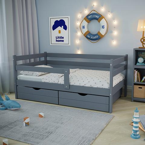 Ящики (комплект 2 шт) для кровати Софа 180х90 фасад серый