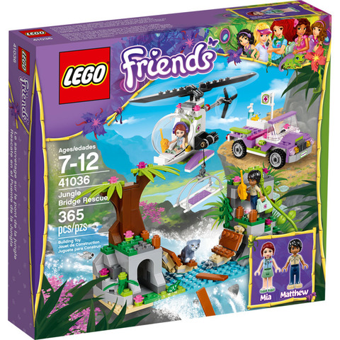 LEGO Friends: Спасательная операция на мосту 41036 — Jungle Bridge Rescue — Лего Френдз Друзья Подружки