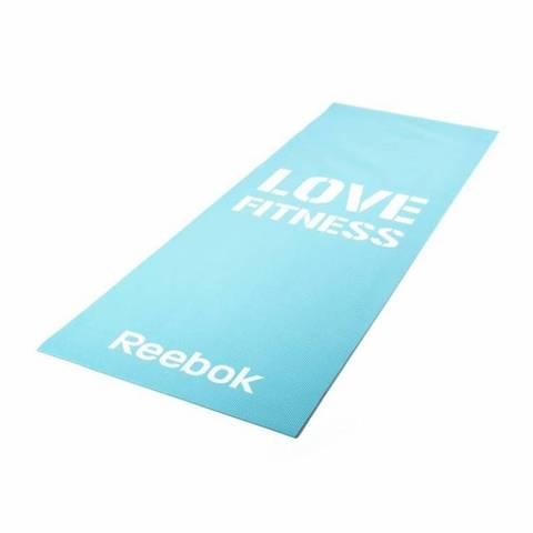 RAMT-11024BLL Тренировочный коврик (мат) для фитнеса тонкий Love (голубой)